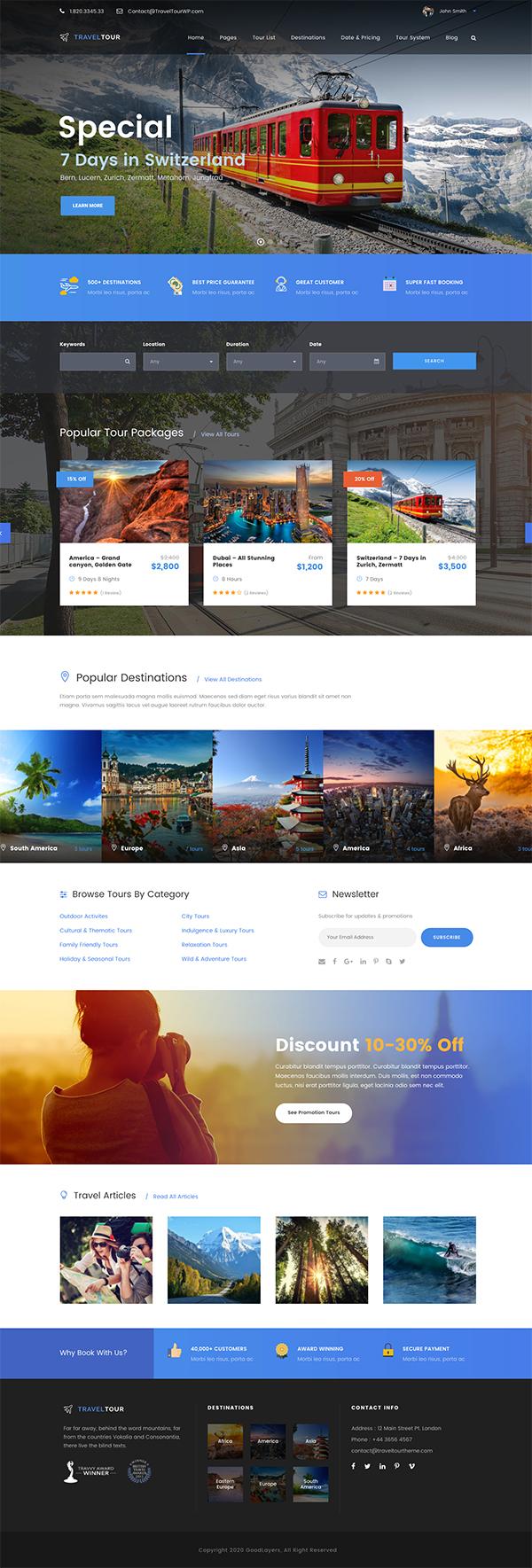 Travel Tour Booking WordPress