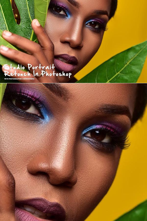How to Studio Portrait Retouch In Photoshop Tutorial