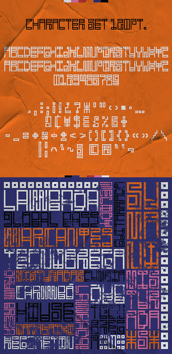 Sumano Free Font Letters