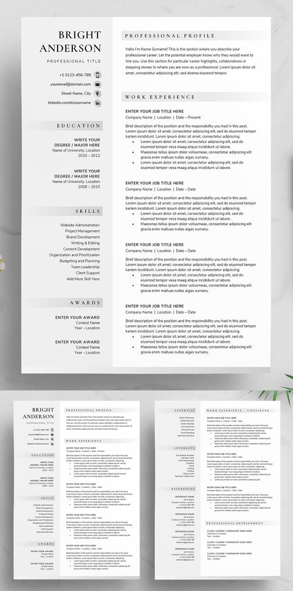Resume / CV - Bright