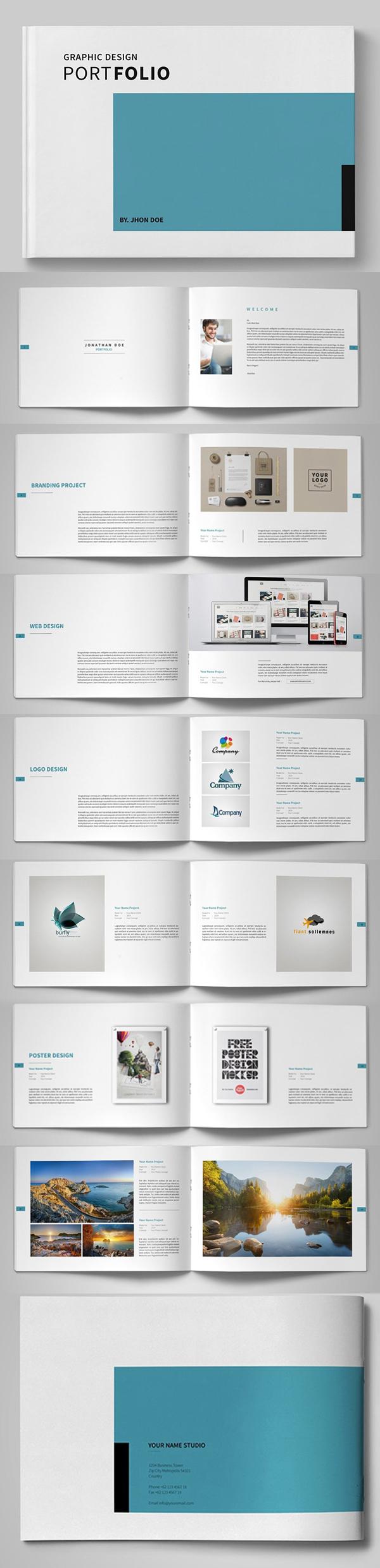 Graphic Design Portfolio Brochure Template