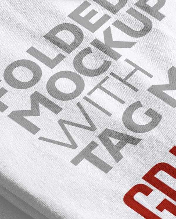 Folded Hi-Res T-Shirt Mockup