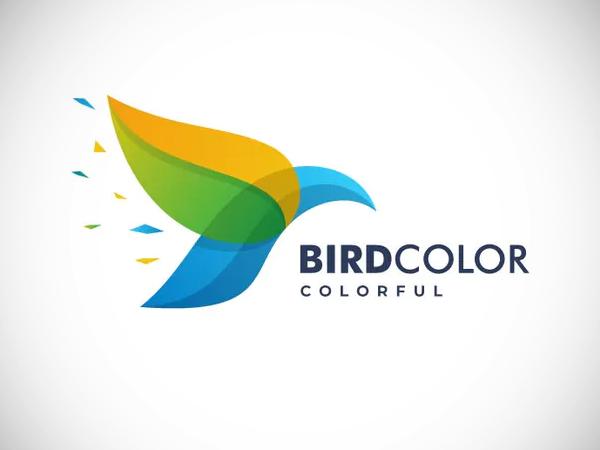 Bird Color Gradient Logo Design