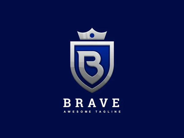 Abstract Letter B with Crown Luxury Logo Design