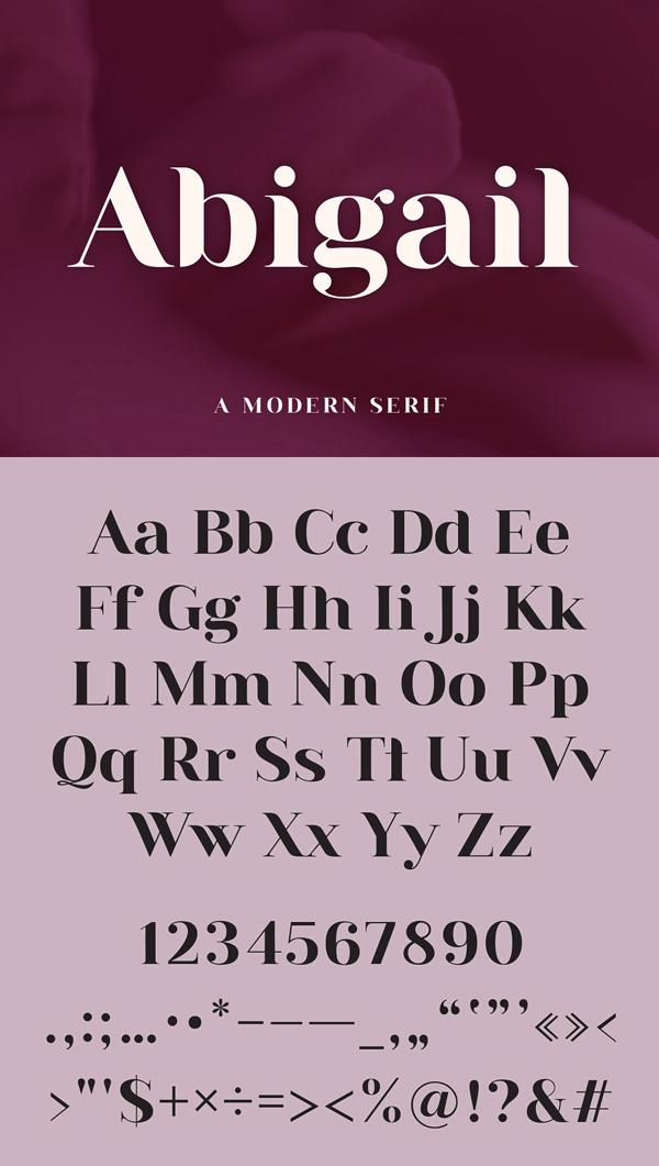 Abigail | A Modern Serif Font