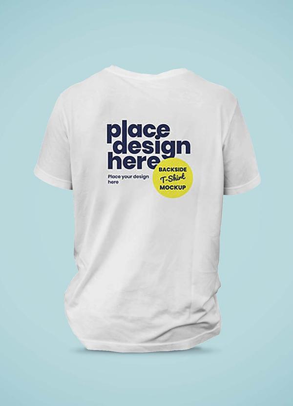 Free Backside T-Shirt Mockup (PSD)