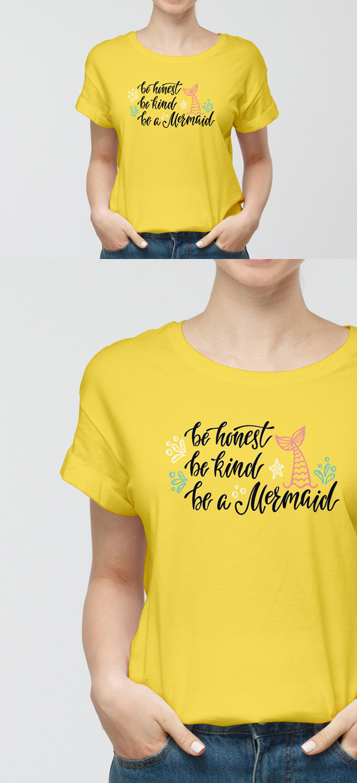 Free Girl T-Shirt Mockup PSD