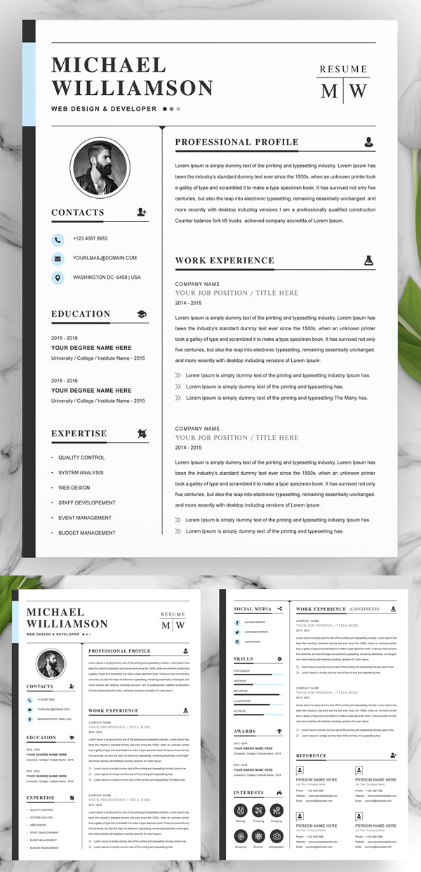 Professional Pages Resume Template