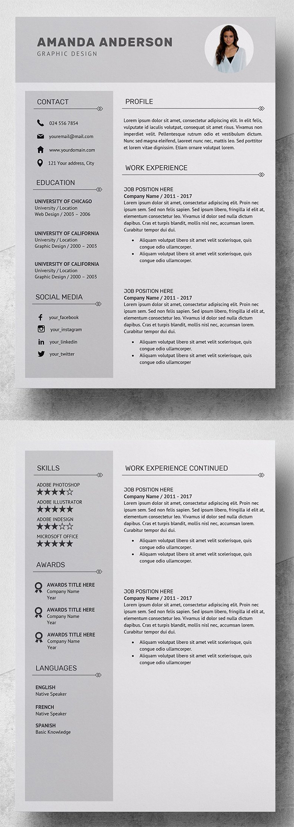 Simple Resume   CV Template + Cover Letter