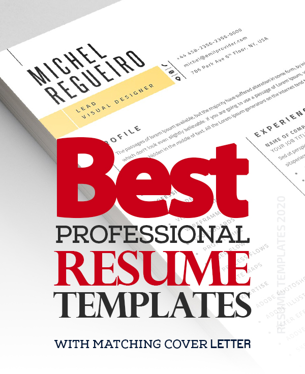 2020 Best Resume Templates with Cover Letter