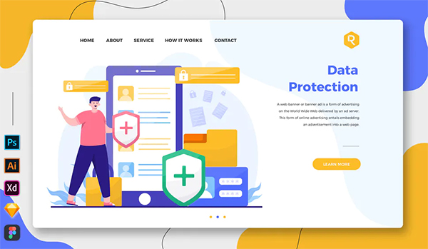 Data Protection - Web & Mobile Landing Page