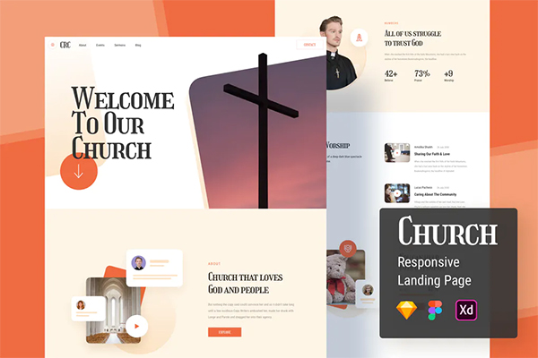 Church Responsive Landing Page