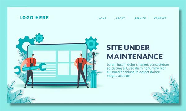 Page Maintenance - Landing Page