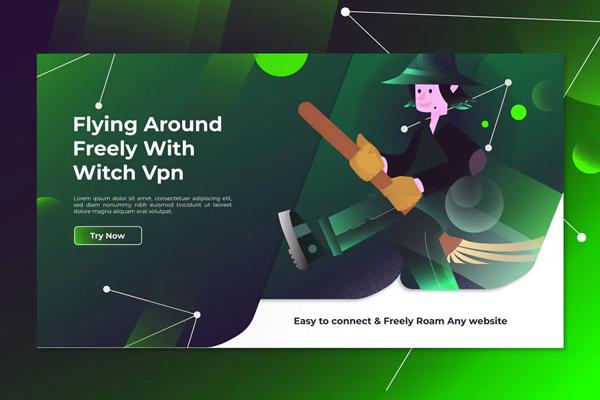 Witch Vpn - Landing Page Illustration