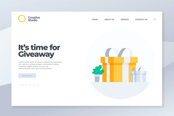 Giveaway - Landing Page