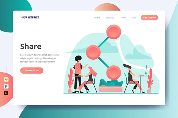 Share - Landing Page