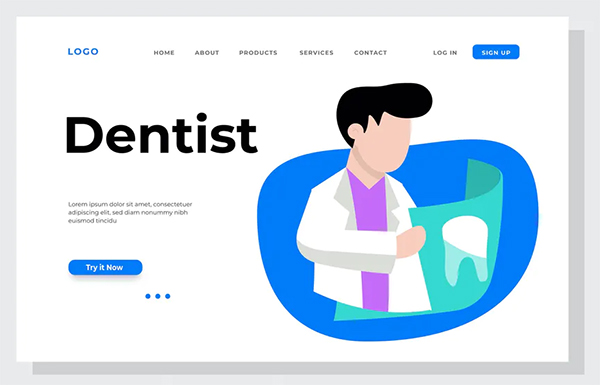 Dentist Landing Page Illustration