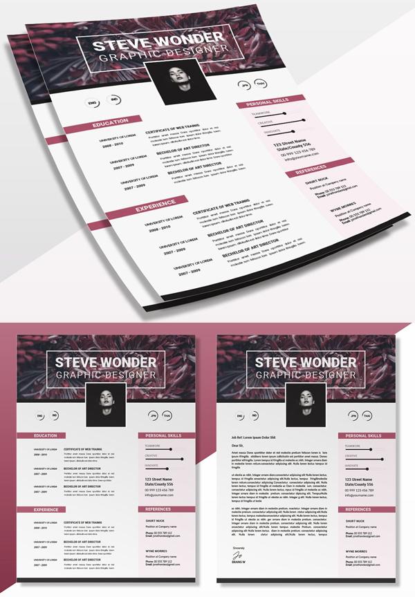 Floral Simple   CV & Resume