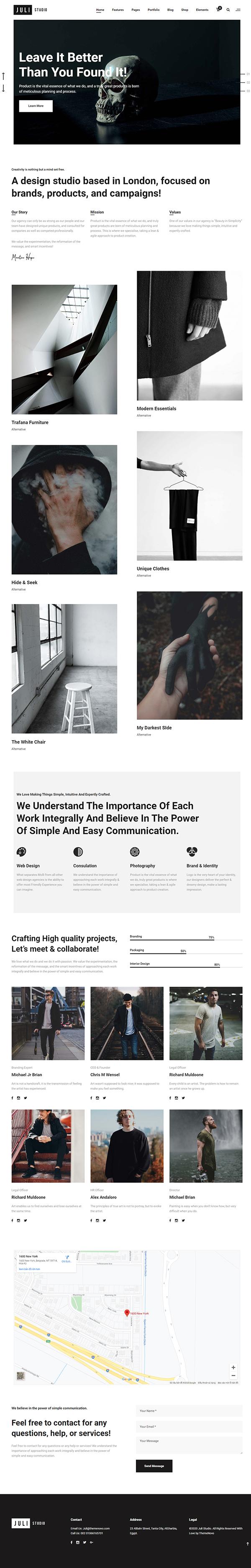 JuliStudio - Portfolio & Agency Theme