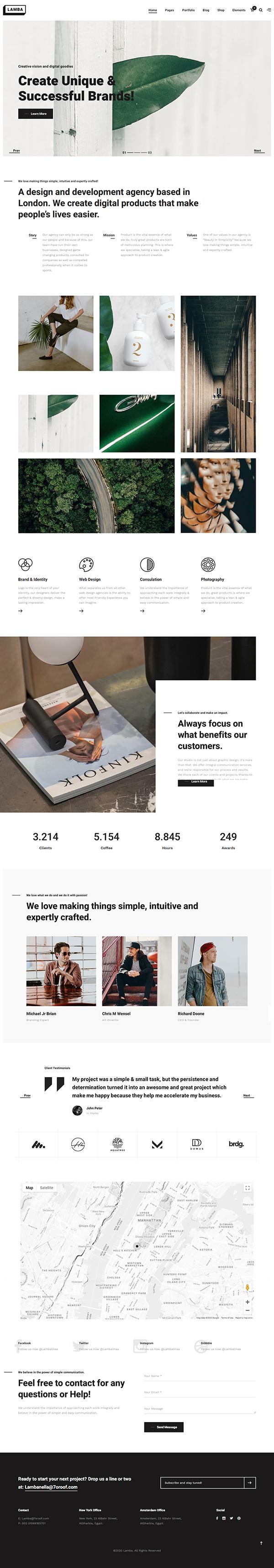 Lamba - Creative Portfolio & Agency WordPress Theme