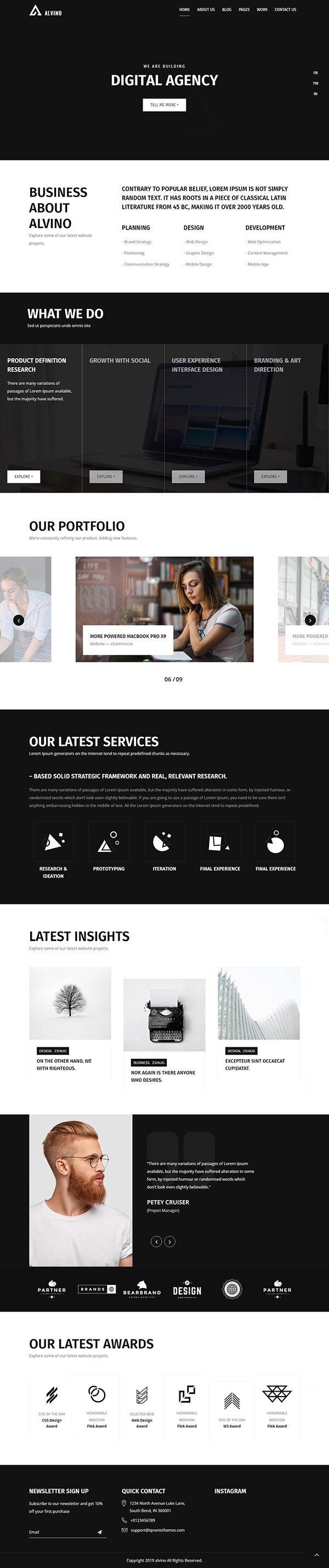 Alvino - Creative Agency & Digital Studio WordPress Theme