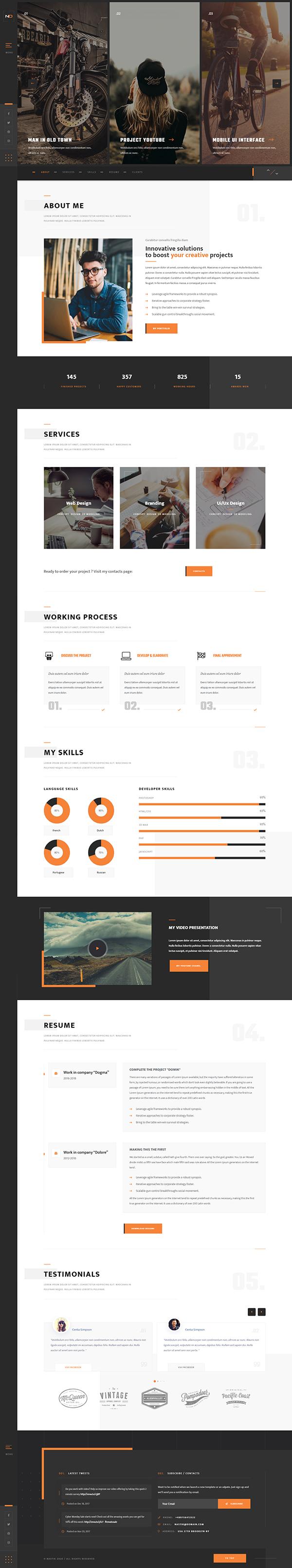 Nastik - Creative Portfolio WordPress Theme