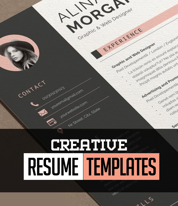 15+ Creative CV / Resume Templates with Cover Letters