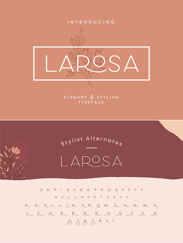 Larosa Sans Elegant Typeface