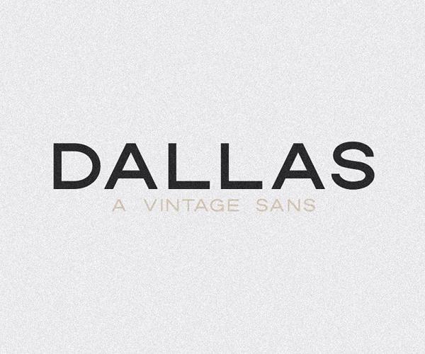 Dallas   A Vintage Sans Font