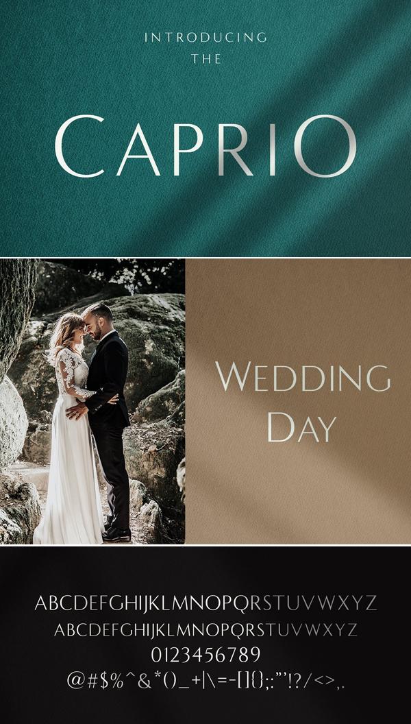 Caprio - Elegant Wedding Typeface
