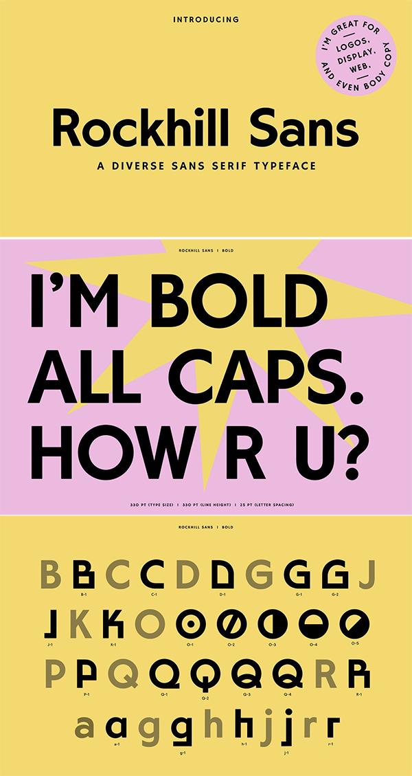 A Diverse Sans Serif Font