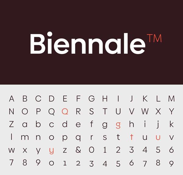 Biennale Font