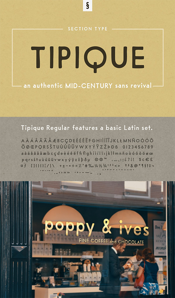 Tipique   Mid-Century Font