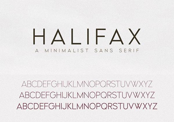 Halifax   A Modern Minimalist Sans