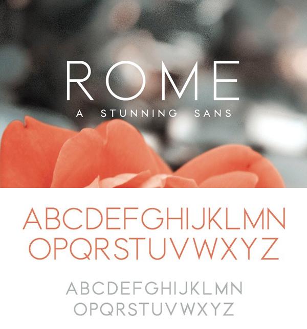 Rome   A Stunning Sans Serif Font