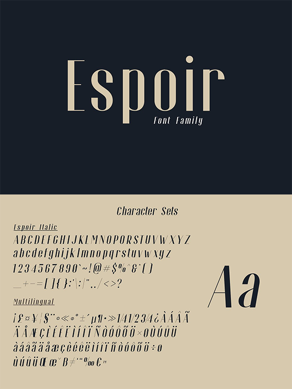 Espoir Font Family