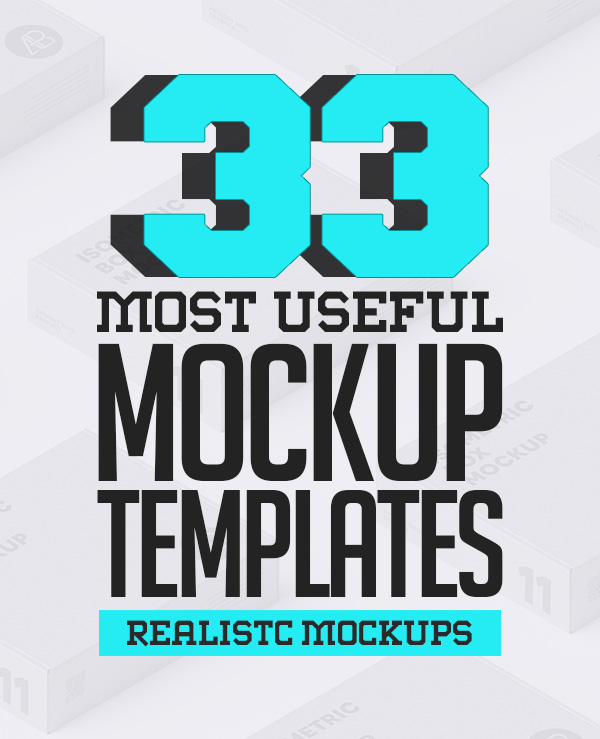 33 Most Useful Product Mockup Templates
