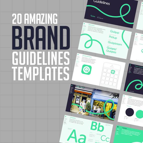 20 Amazing Brand Guidelines Templates Design