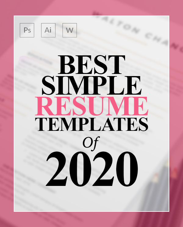 22 Simple CV / Resume Templates with Cover Letters