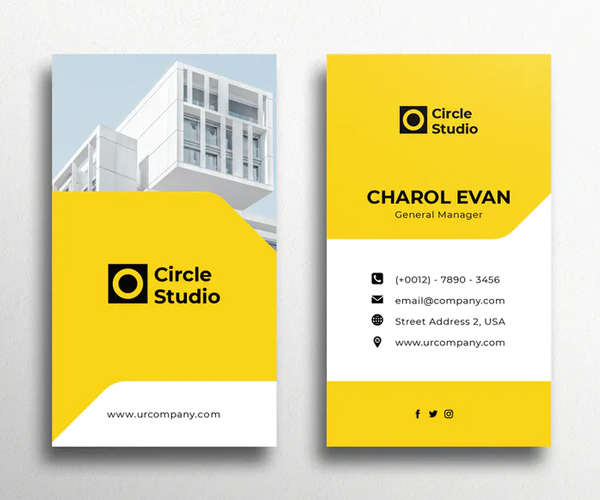 Yellow Business Card Design
