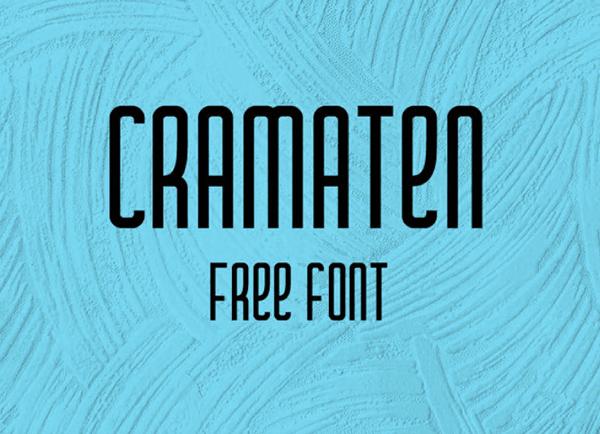 Cramaten Free Condensed Font Free Font