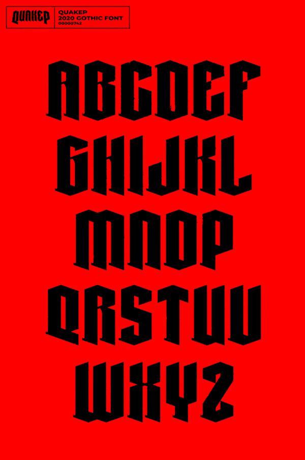 Quakep Free Font