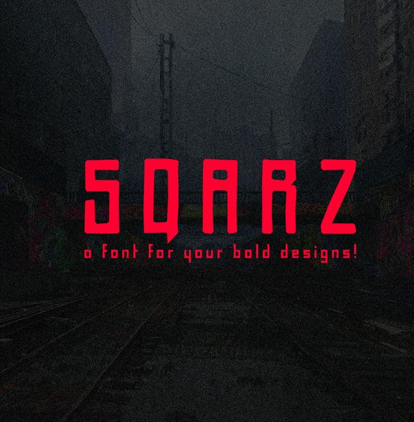 Sqarz Free Font