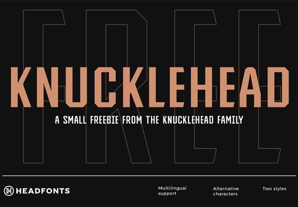 Knucklehead Free Font