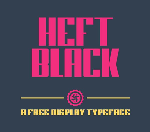 Heft Black Free Font