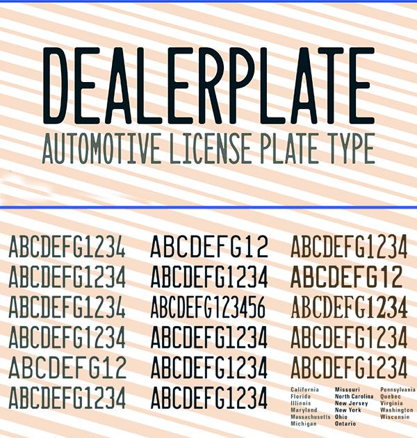 Dealerplate Free Font
