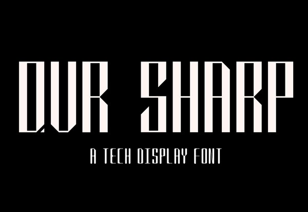 QVR Sharp Free Font