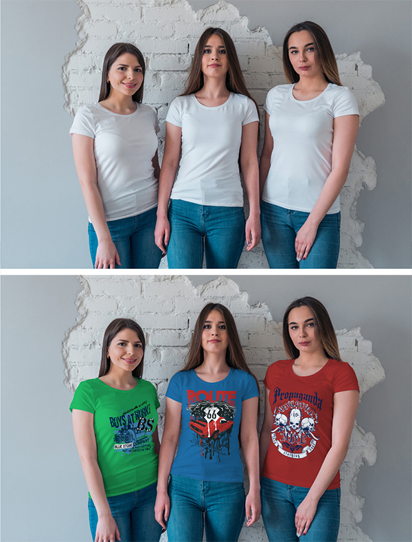 Free Female T-Shirt Mockup