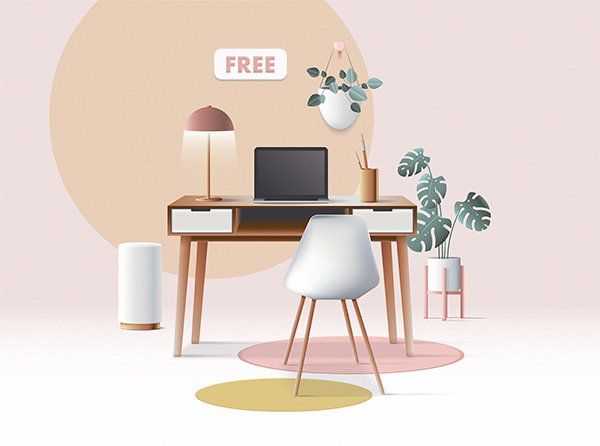 3D Workspace Scene Creator Freebie