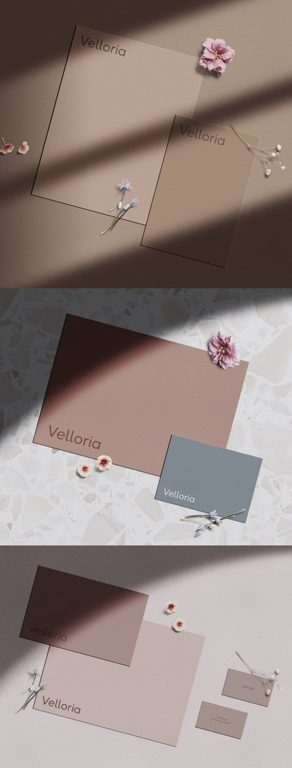 Velloria Mini — Stationery Mockup